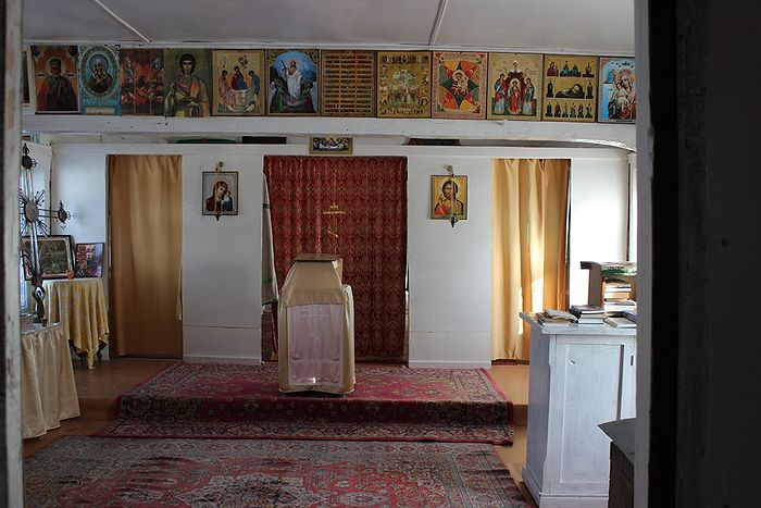 В часовне-храме святителя Модеста д. Сейты