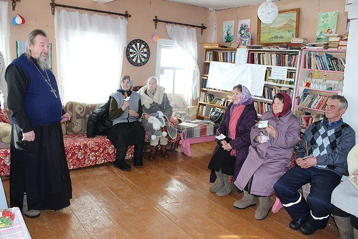 Встреча прихожан деревни Сейты и села Озел с батюшкой