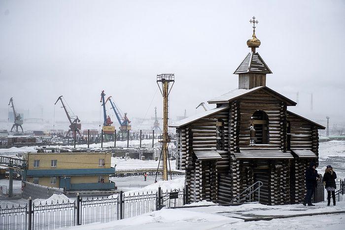 Звонница в память о погибших в Норильлаге. Фото: Кирилл Кухмарь/ТАСС