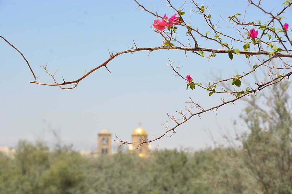 Θέα στον ελληνικό ορθόδοξο ναό του Αγίου Ιωάννου του Προδρόμου