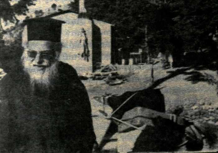 Fr. Benedict at a construction site