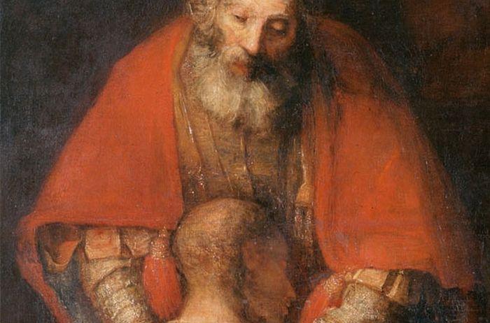Фрагмент картины «Возвращение блудного сына» Рембрандта ок. 1666-69 гг.