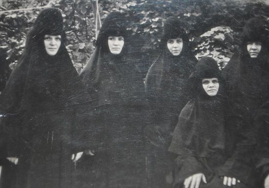 With sisters of the monastery. Mother Elena is second from the left
