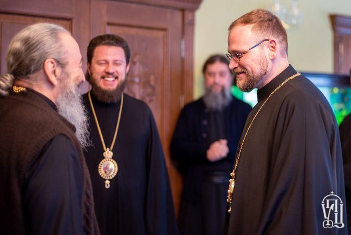 Встреча архиепископа Михаловско-Кошицкого Георгия с Блаженнейшим Митрополитом Онуфрием, которая состоялась уже после интервью