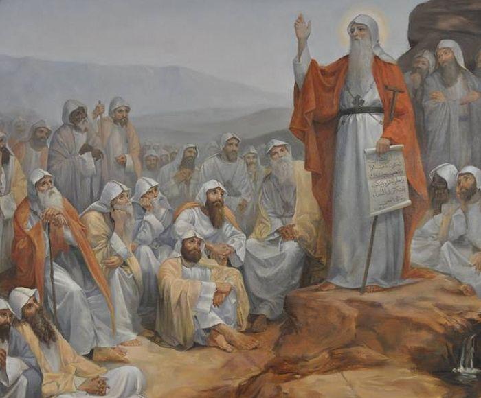 Преподобный Антоний Великий в окружении учеников