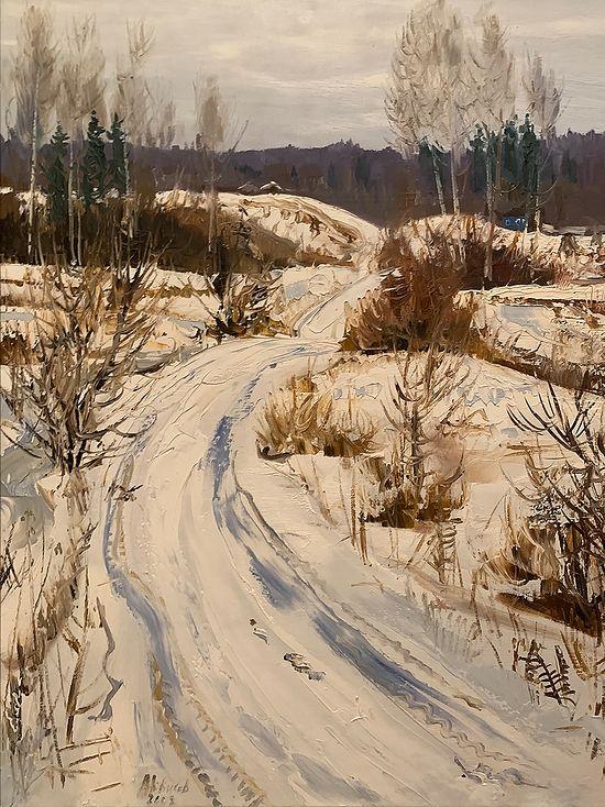 Последний снег на большаке. Х. м. 2014