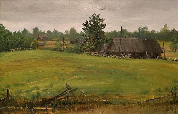 Юханово, Тверская обл., домик бабушки Кати Харламовой. Х. м. 1999