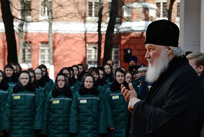Patriarch Kirill's visit to the Butyrka prison on Pascha. Photo: Oleg Varov/Patriarchia.ru.