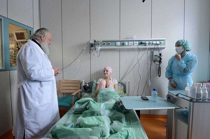 Visiting a pediatric hematology center in Moscow, September 2, 2012. Photo: Kirill Novotarsky/patriarchia.ru
