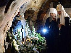 Святейший Патриарх Кирилл в Псково-Печерском монастыре