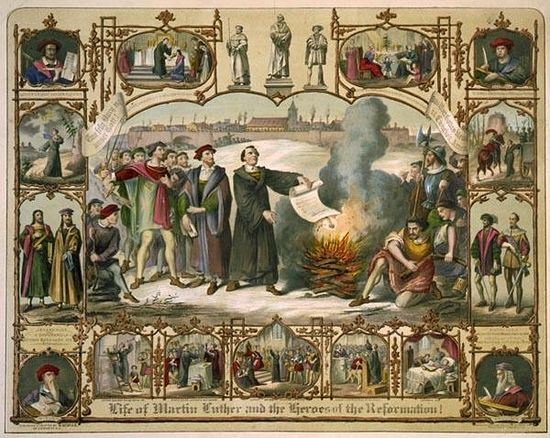 Martin Luther and the heroes of the Reformation
