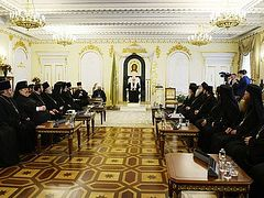 Patriarch Kirill meets with delegations of Local Churches arriving in Moscow to celebrate 10th anniversary of his enthronement