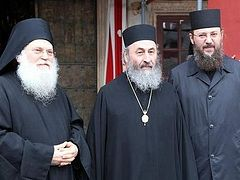 Abbot Ephraim speaks with UOC hierarchs on phone, leaves Ukraine for further treatment