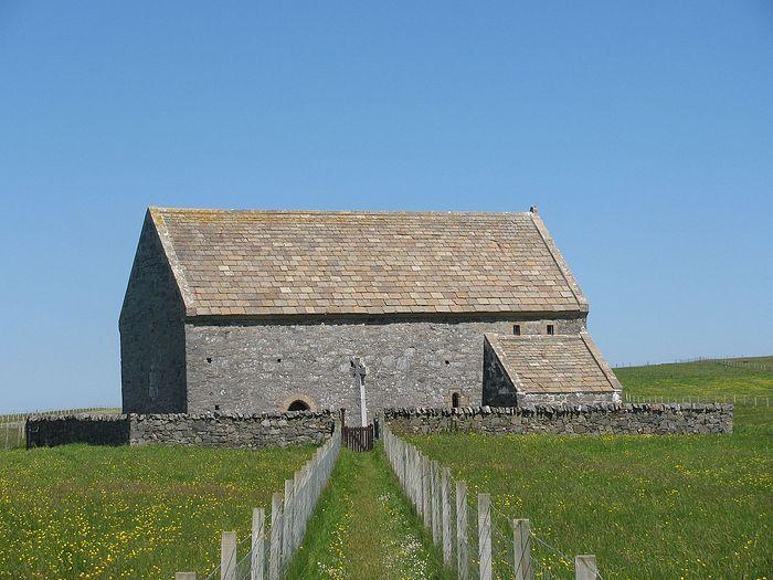 The Teampull Mholuaidh or St Moluag's church at Eoropie, Isle of Lewis, Scotland. Photo: wikipedia