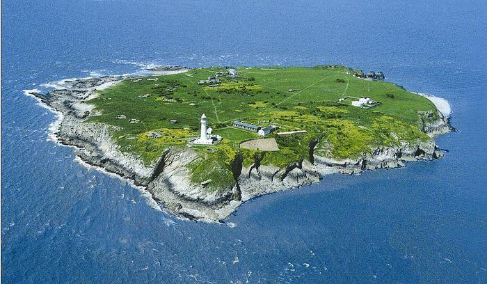 Вид на остров Флатхольм с воздуха