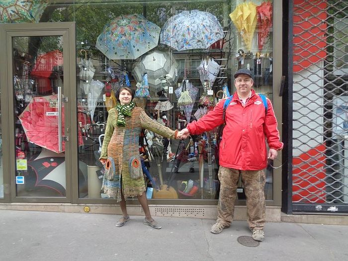 Супруги Поваровы в Париже