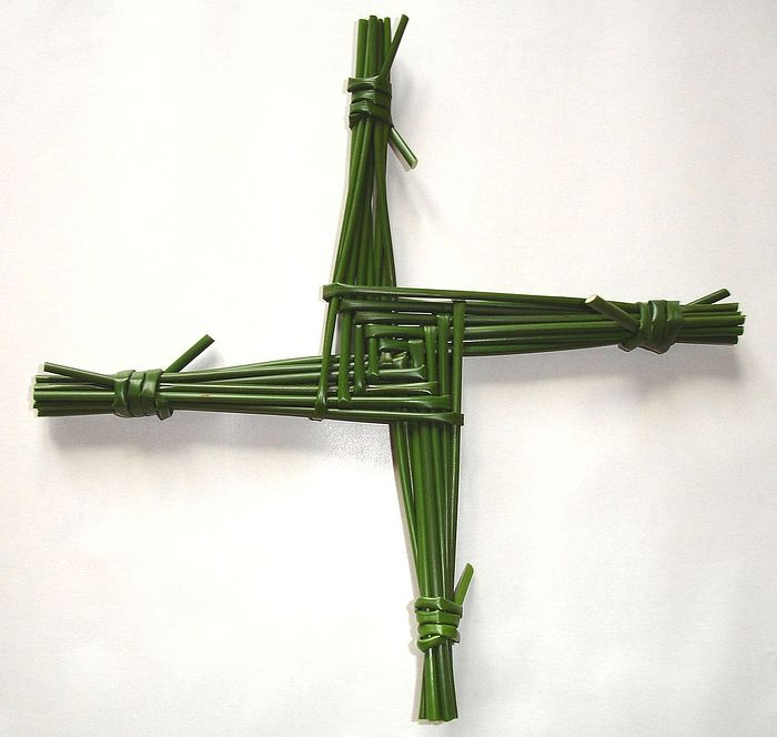 St. Brigid's cross, woven annually on her feast-day