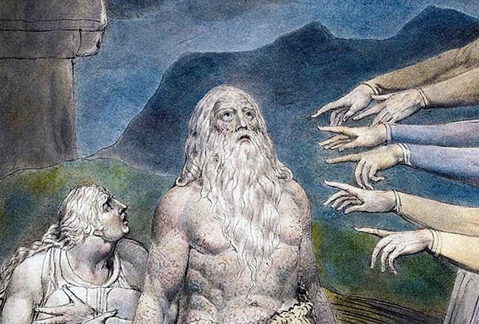 Иллюстрация Уильяма Блейка к книге Иова. Фрагмент. Изображение с сайта nationalreview.com