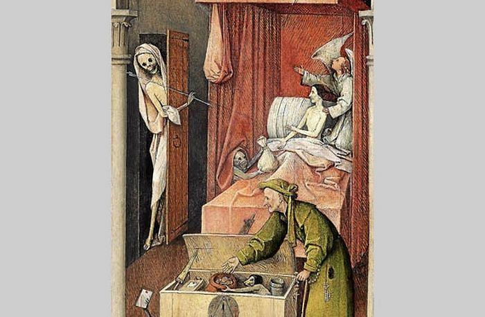 Иероним Босх, «Смерть скупца». Фрагмент. Изображение с сайта themorningsun.com