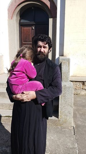 Fr. Nikola with his daughter Ana