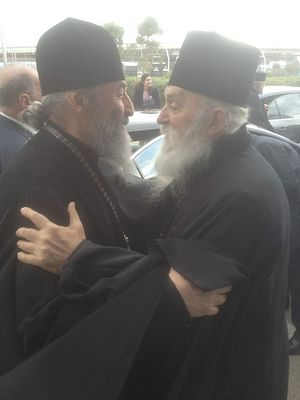 Met. Paul with His Beatitude Met. Onuphry of Kiev and All Ukraine. Photo: vzcz.church.ua