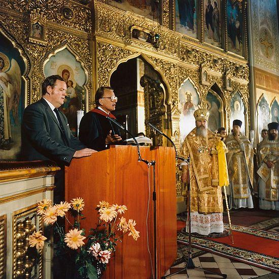 Билли Грэм и знаменитый взгляд патриарха Алексия II