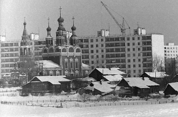 Храм Архистратига Михаила в Тропарёво. 1970-е гг.