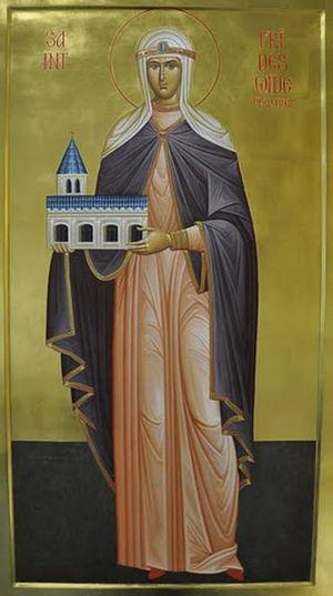 Икона прп. Фридесвиды Оксфордской