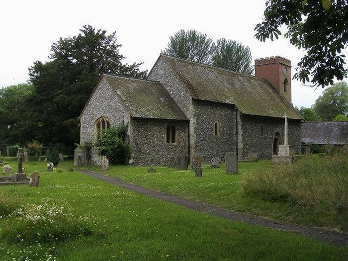 Церковь Прп. Фридесвиды во Фрайлшеме, Беркшир (фото - Shaun Ferguson, Wikimapia.org)
