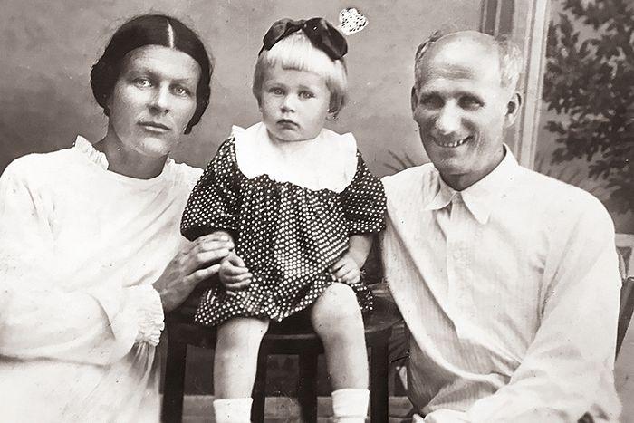 Тихон Тихонович и Татьяна Борисовна Пелих с дочерью Екатериной
