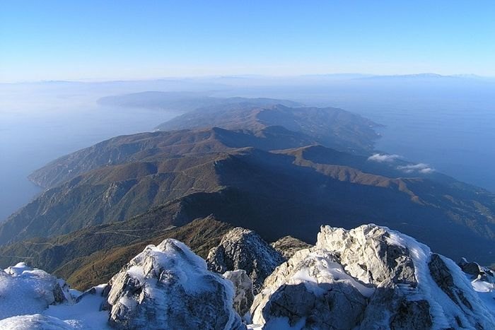 Вид с вершины горы Афон