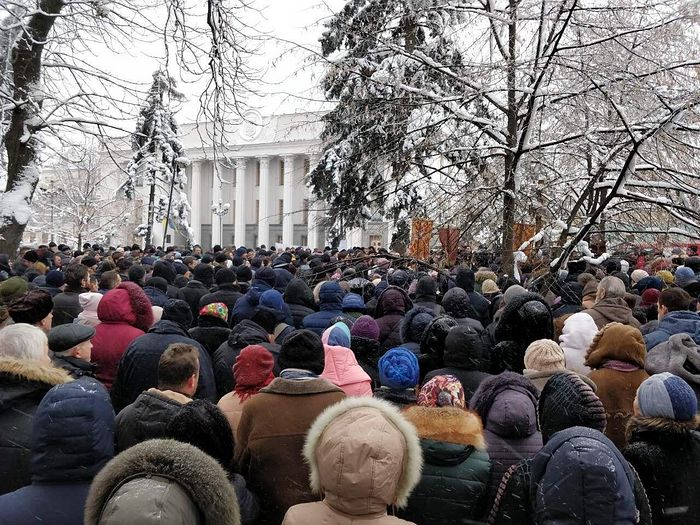 "A prayerful standing outside the Supreme Rada of Ukraine ""For the government's non-interference in Church affairs"", December 20, 2019."