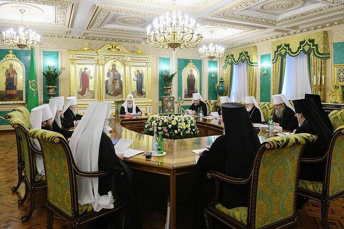 Святейший Патриарх Кирилл возглавил первое в 2019 году заседание Священного Синода