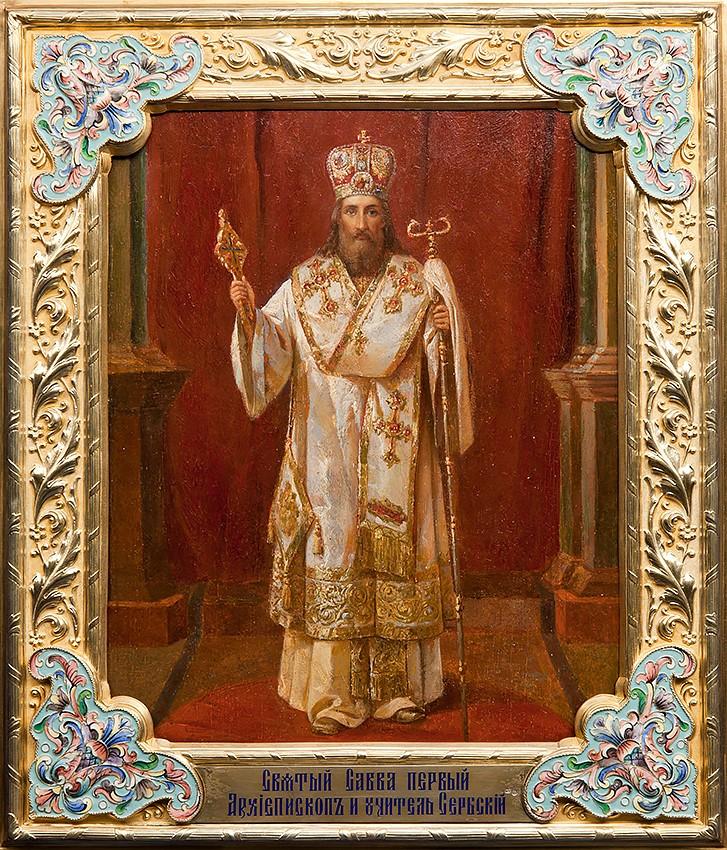 Икона св. Саввы Сербского