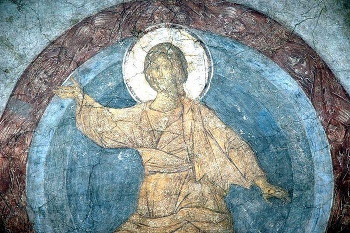 Христос во славе. Страшный суд. Фреска преп. Андрея Рублева