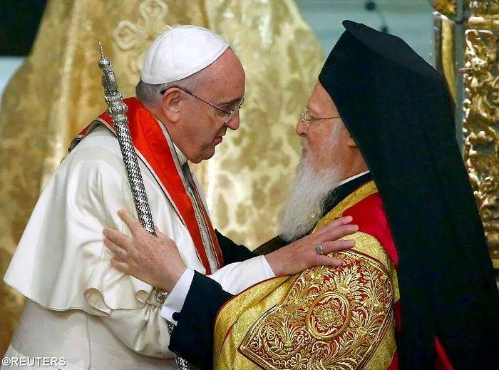 Константинопольский патриарх Варфоломей с Папой Римским Франциском