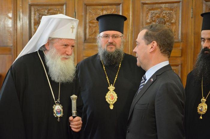 Состоялась встреча председателя Правительства России Дмитрия Медведева с Патриархом Болгарским Неофитом