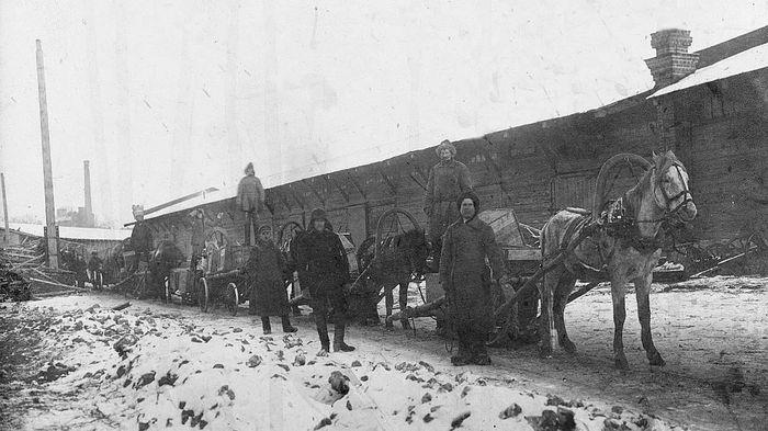 Лошадь-веревочка. Так в 1920-30-е гг. доставляли почту и различные грузы в труднодоступные районы