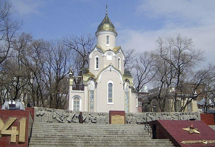 Тихоокеанский флот поможет отремонтировать храм-часовню святого апостола Андрея Первозванного во Владивостоке