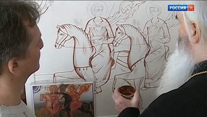 Курские иконописцы воссоздают икону XIII века, утраченную в Сирии