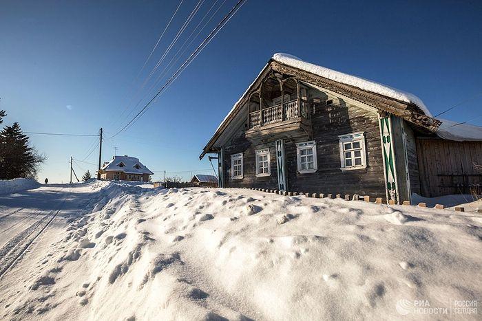 Старинный жилой дом в деревне Куганаволок