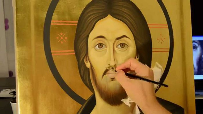 Photo: from a Youtube by the iconographer Liviu Dumitrescu.