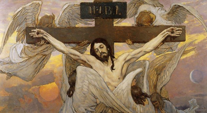Crucifixion Of Jesus Christ. sketch for the painting of Saint Vladimir Cathedral in Kiev. Artist: Victor Mikhailovich Vasnetsov.