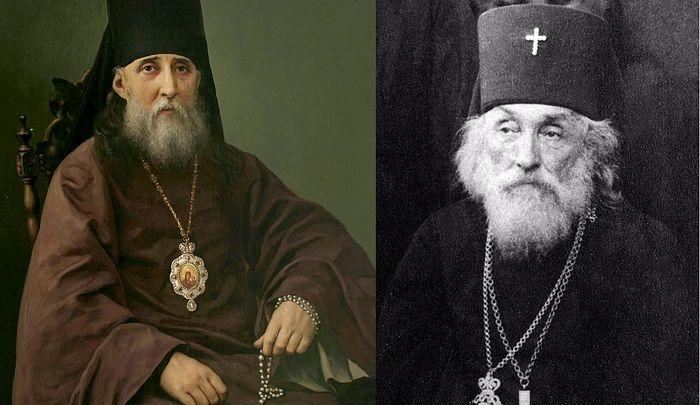 Bishop Sylvester (Malevansky) (L), Archbishop Vasily (Bogdashevsky) (R). Photo: fotopaterik.org, pravoslavnoe-duhovenstvo.ru