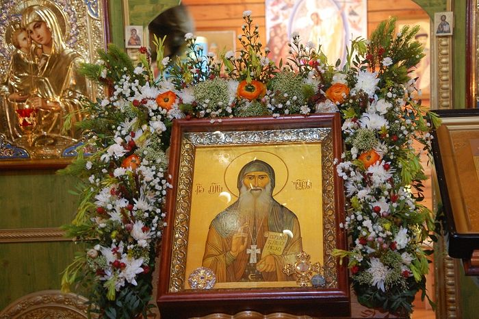 On the day of the uncovering of the relics of Elder Gabriel (Urgebadze). A photo from the archive of the Church of the Meeting of the Lord in Birulevo, Moscow