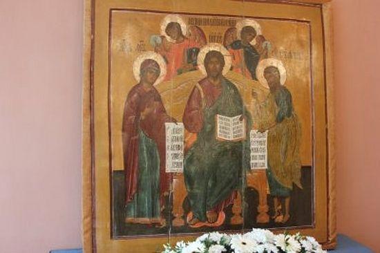 Икона из Деисусного чина изборской Сергиевской церкви будет представлена в постоянной экспозиции Музея истории города Печоры
