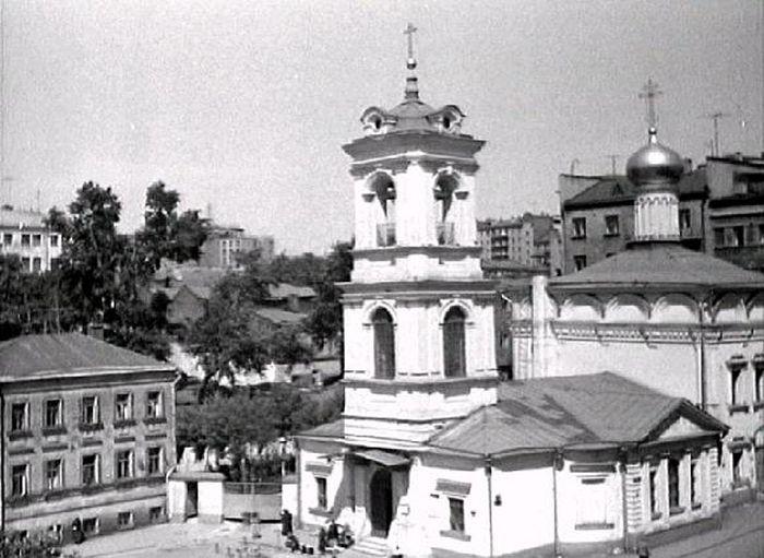 Храм Воскресения Словущего. 1950-е годы