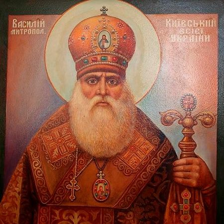 """Icon of """"Metropolitan"""" Vasily Lipkovsky, founder of and canonized by the UAOC"""