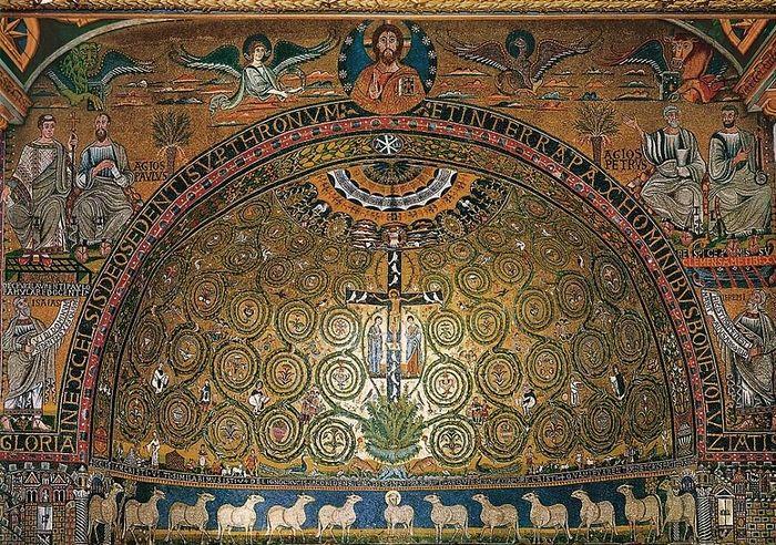 Древо Жизни. Мозаика. Базилика Сан Клементе, Рим (Италия)