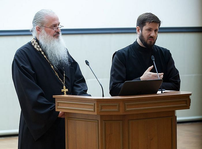 With Fr. Sergei Baranov, who translated